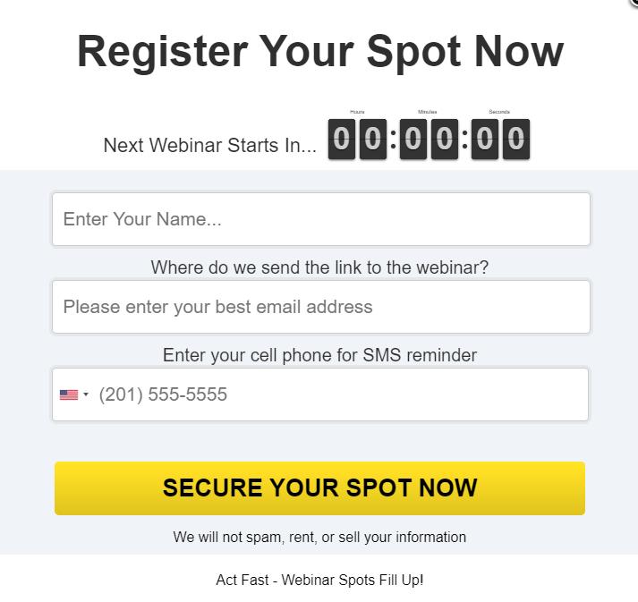 Register Free Webinar - Break Hook and Profit Alerts